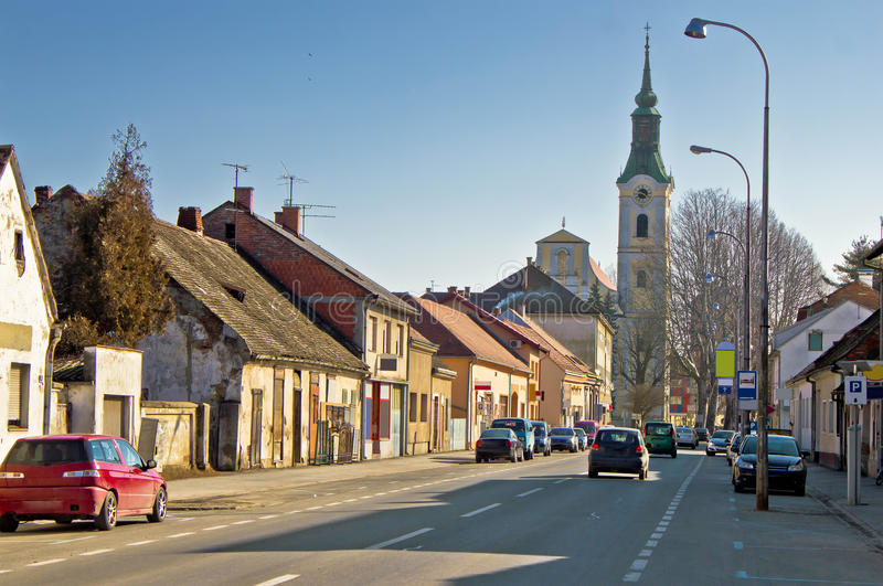Town of Virovitica street view royalty free stock photography