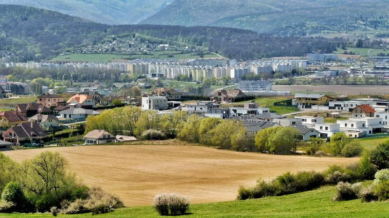 The town of Zvolen and its surroundings West Slovakia stock image