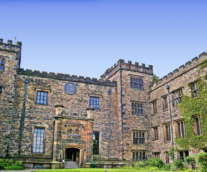 Towneley Hall in Burnley Lancashire. Towneley Hall Situated half a mile south-east of Burnley, Lancashire, it lies within a 284 acre park and for over six royalty free stock images