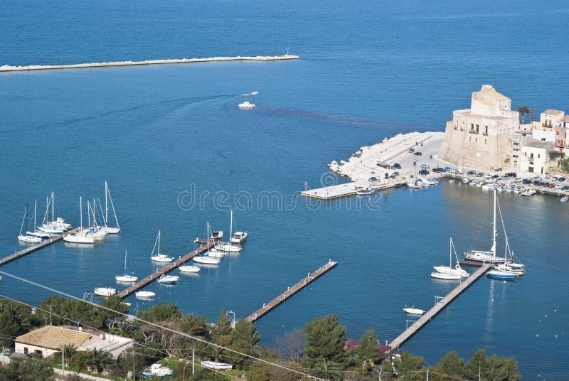 Townen Av Castellammare Del Golfo Royaltyfri Fotografi