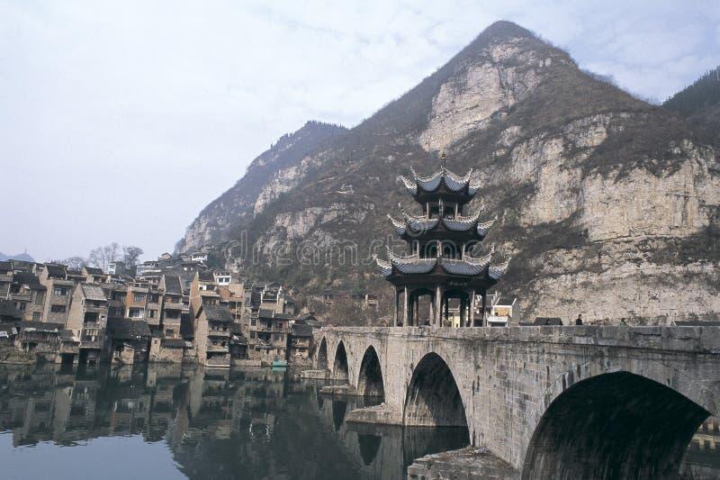 Forntida town av zhenyuan royaltyfria foton