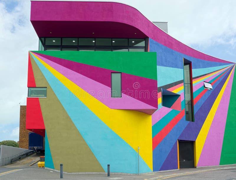 Towner galeria sztuki Abstrakcjonistyczny paintwork Eastbourne, Sussex zdjęcie stock