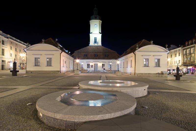 Townfyrkant i Bialystok royaltyfria bilder
