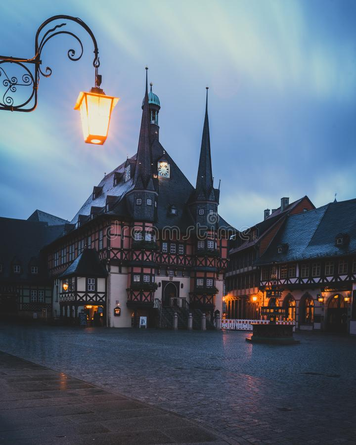 Townhall исторического города Wernigerode стоковые фото