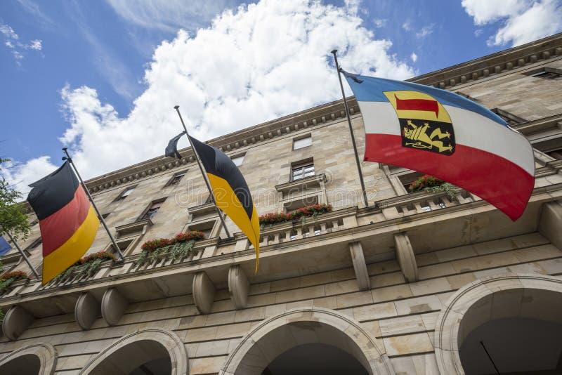 Townhall Мангейм Германия стоковые фото