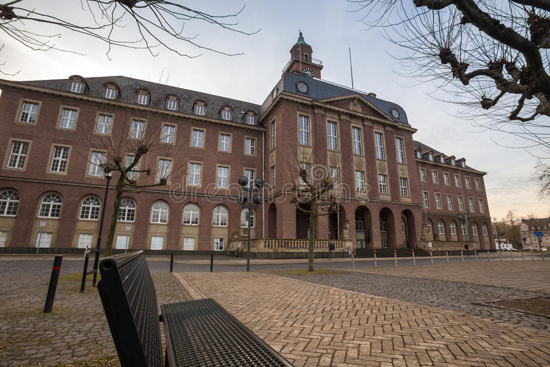 townhall黑尔讷德国 免版税库存图片