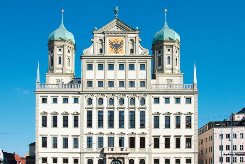 Townhall in Augsburg stockbild