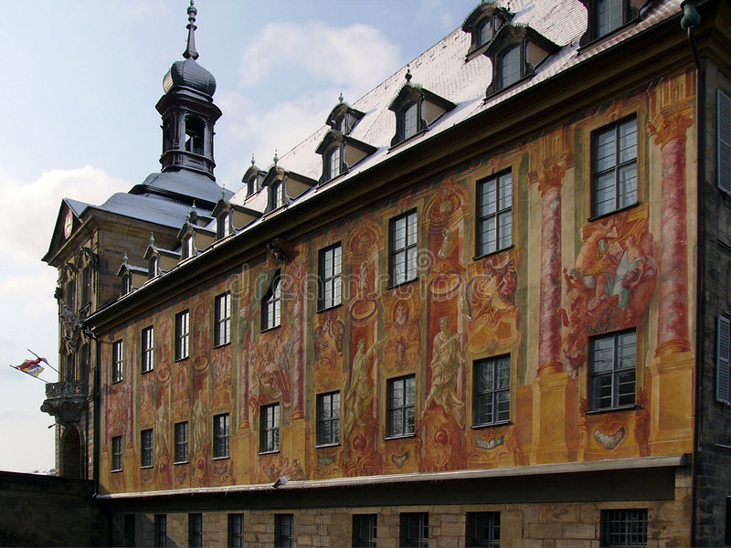 Townhall bamberg royalty free stock photography