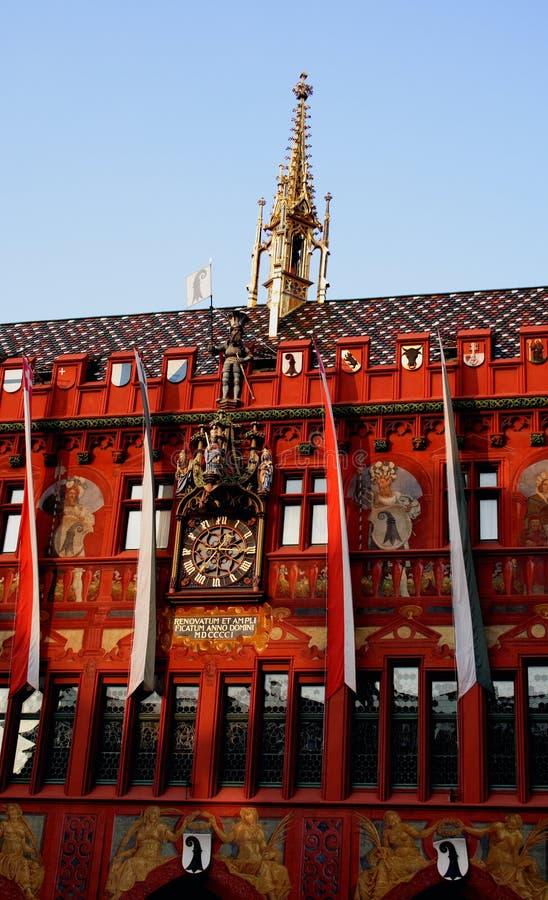 Townhall in Basel stockbild