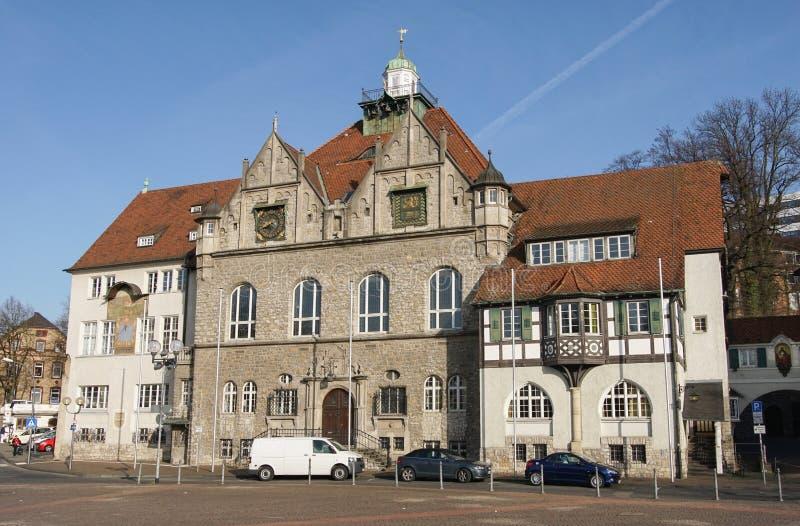 Townhall, Bergisch Gladbach, Duitsland royalty-vrije stock foto