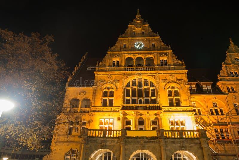 Download Townhall Bielefeld Alemanha Na Noite Imagem de Stock - Imagem de noite, arquitetura: 80100279