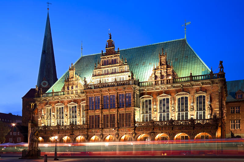 Townhall In Bremen, Germany. Stock Photos