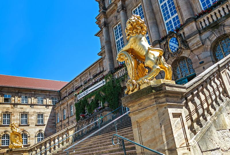 Townhall a Cassel, Hesse nordico, Germania fotografie stock