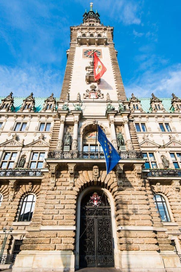 Townhall de Hamburgo fotografía de archivo libre de regalías