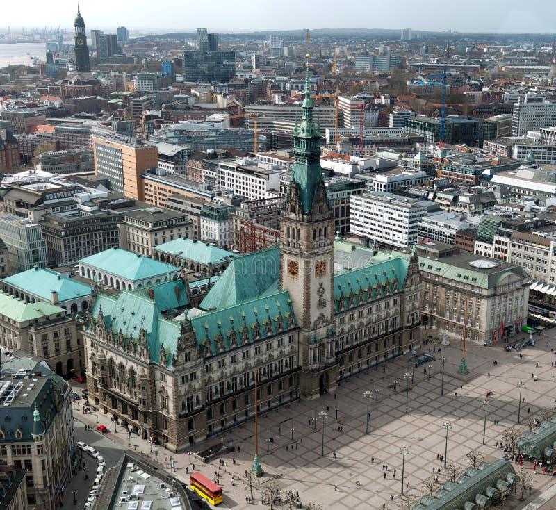 Townhall de Hamburgo imagen de archivo libre de regalías