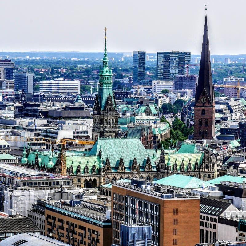 Townhall di Amburgo fotografia stock libera da diritti