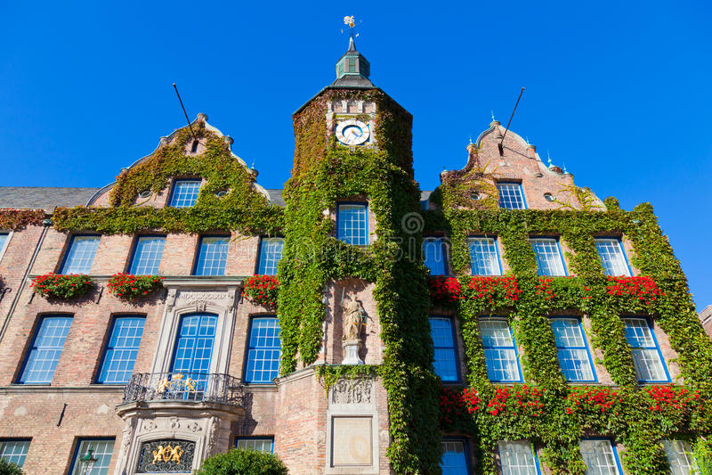 Townhall in Dusseldorf, Duitsland stock foto