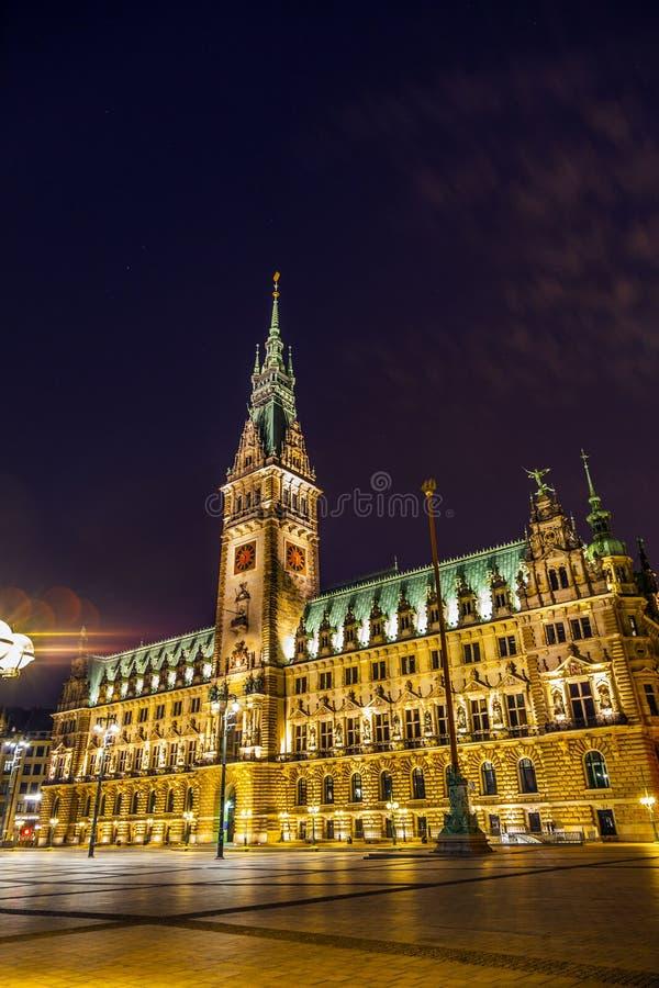 Townhall en Hamburgo foto de archivo libre de regalías