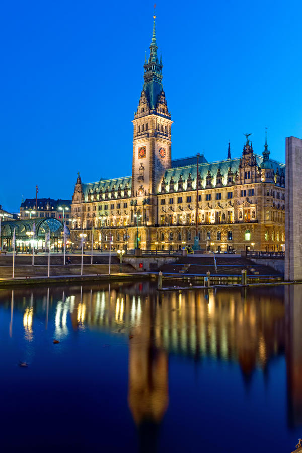 Townhall Hamburg zdjęcie stock