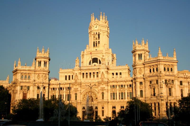 Townhall, Madrid, Espagne images libres de droits