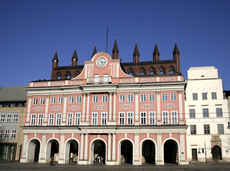 Townhall Rostock stockfotografie