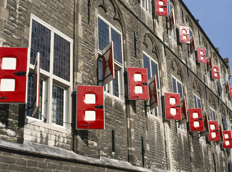 Townhall van Gouda stock foto's
