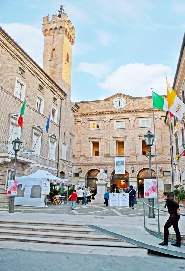 Townhall van Loreto royalty-vrije stock fotografie