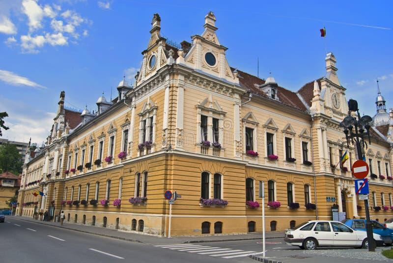 Townhall von Brasov. Rumänien stockfotografie
