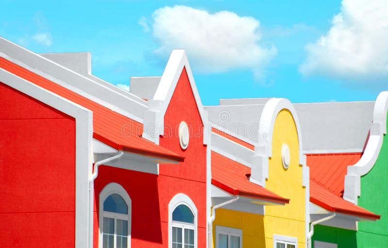 Townhomes coloridos fotos de archivo libres de regalías