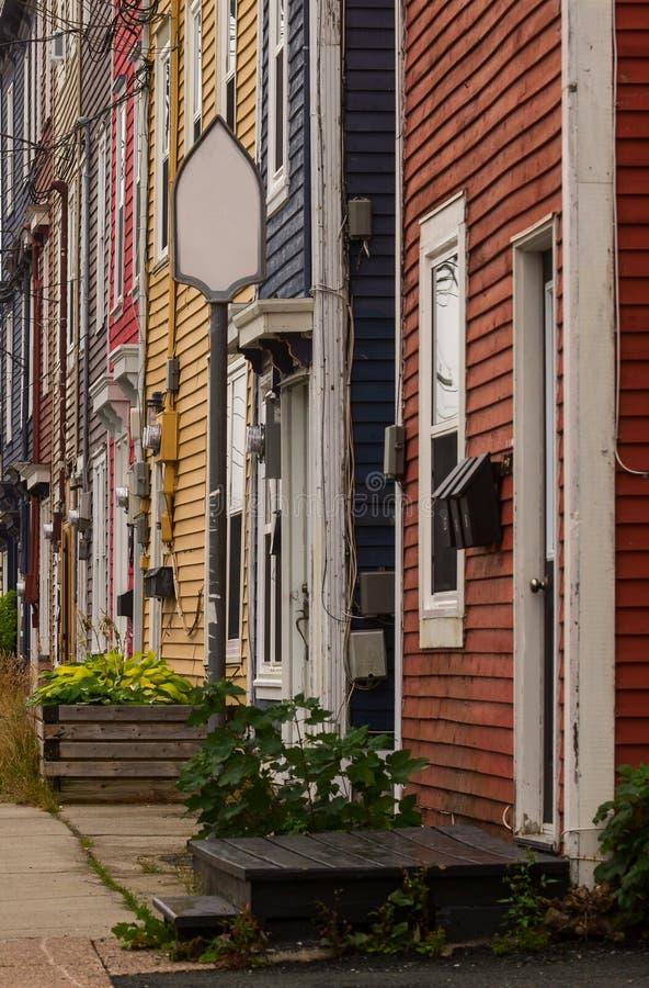 Townhomes coloridos foto de archivo