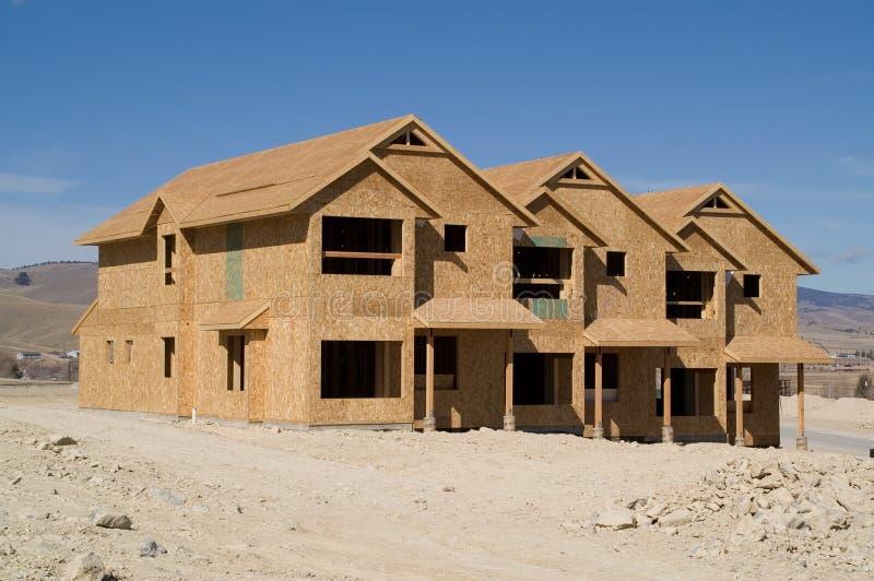 Townhomes en construction photographie stock libre de droits