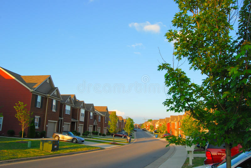 Download Townhomes In Suburbia Royalty Free Stock Image - Image: 9662766