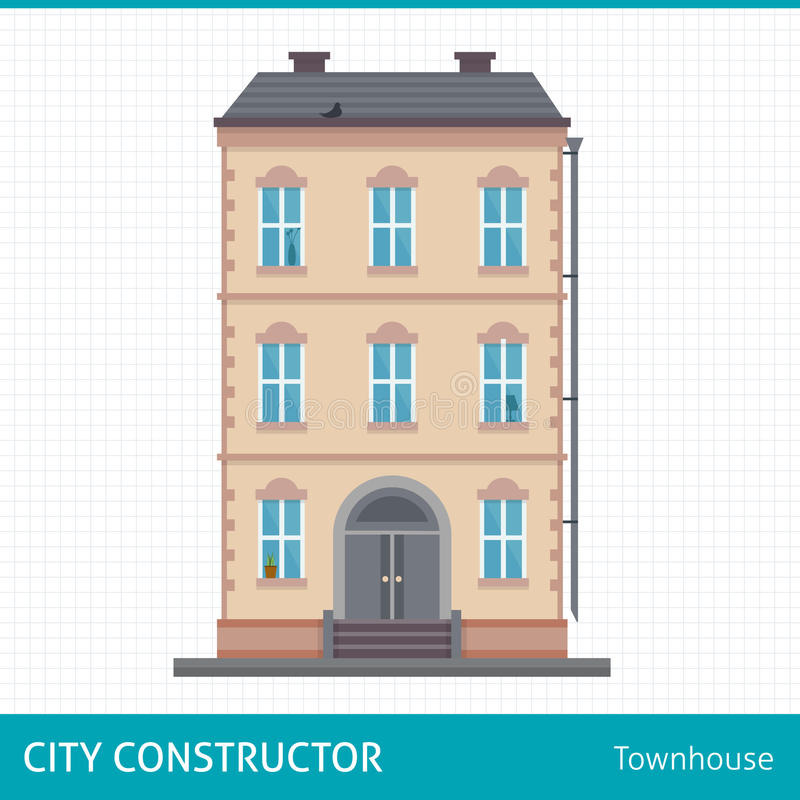 townhouse illustration stock