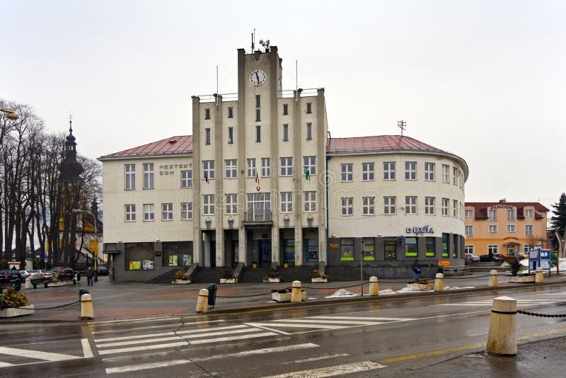 Townhouse in Cadca. Slovakia, city center stock photos