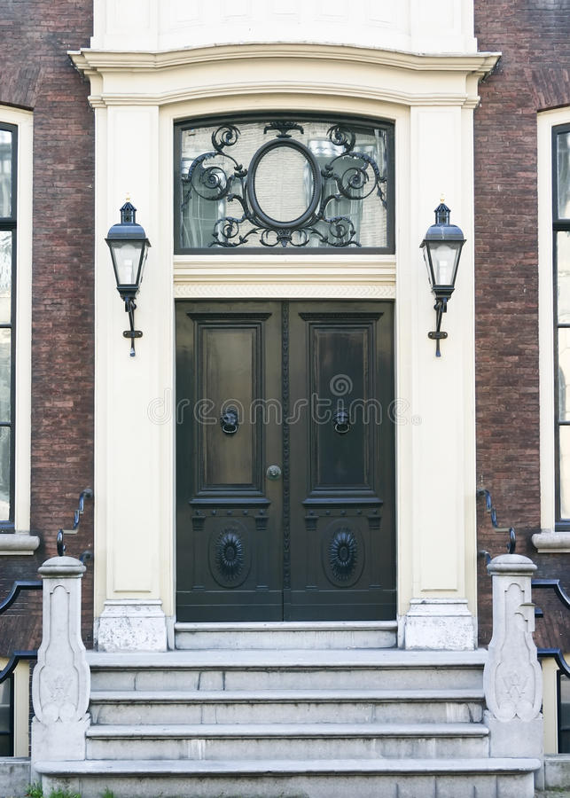Townhouse Entrance Door royalty free stock photography