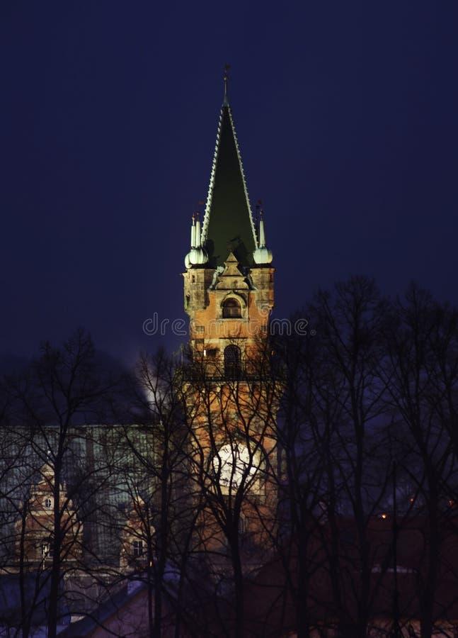 Townhouse in Frydlant v Cechach. Czech Republic.  stock photo
