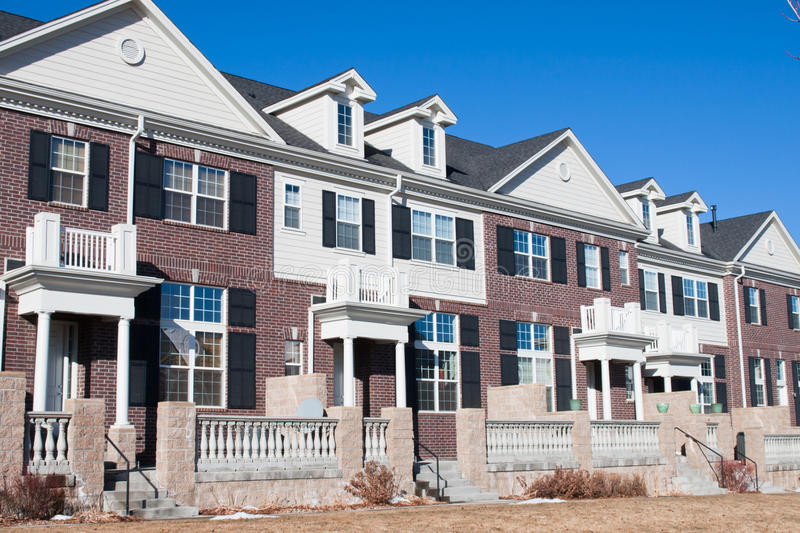 Townhouses royalty free stock photography