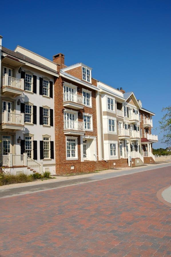 townhouses royaltyfria bilder