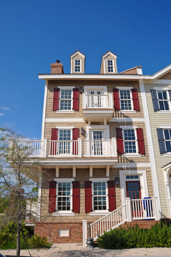 townhouses arkivbilder