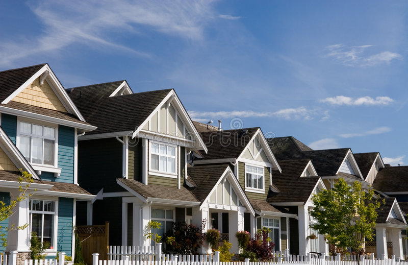 Townhouses stock images