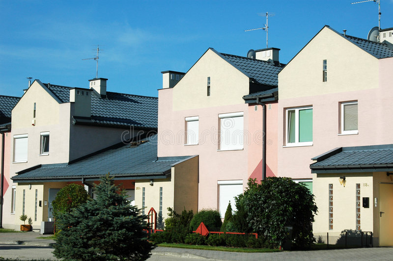 Download Townhouses stock image. Image of suburbs, suburban, real - 6207409