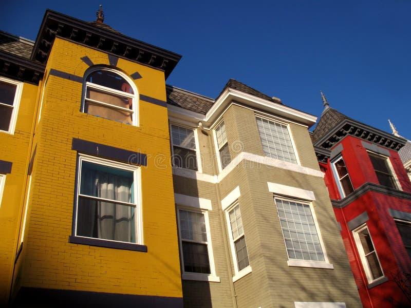 Townhouses do centro urbano imagens de stock
