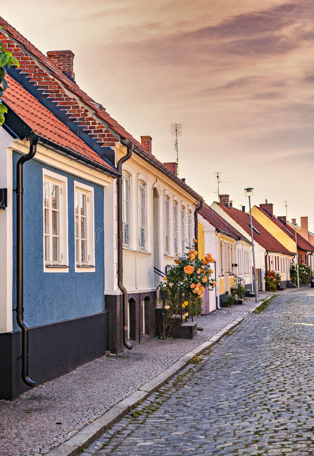 Free Townhouses In Simrishamn Sweden Stock Photos - 56636173