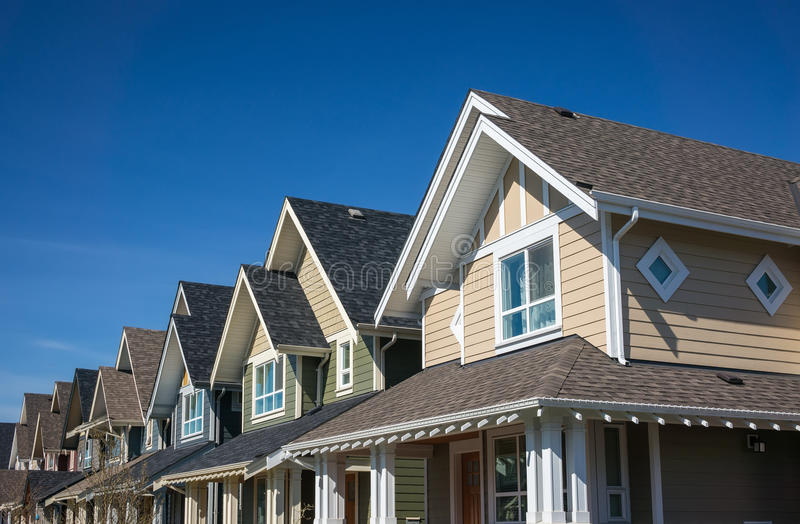 Townhouses royalty free stock images