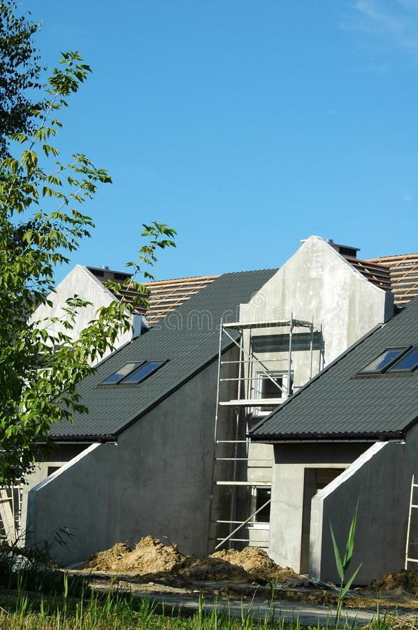 Download Townhouses Under Construction Stock Image - Image: 6102163