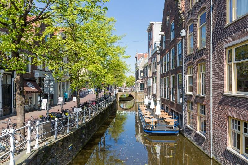 Townscape dal centro di Delft, il Netherland immagine stock