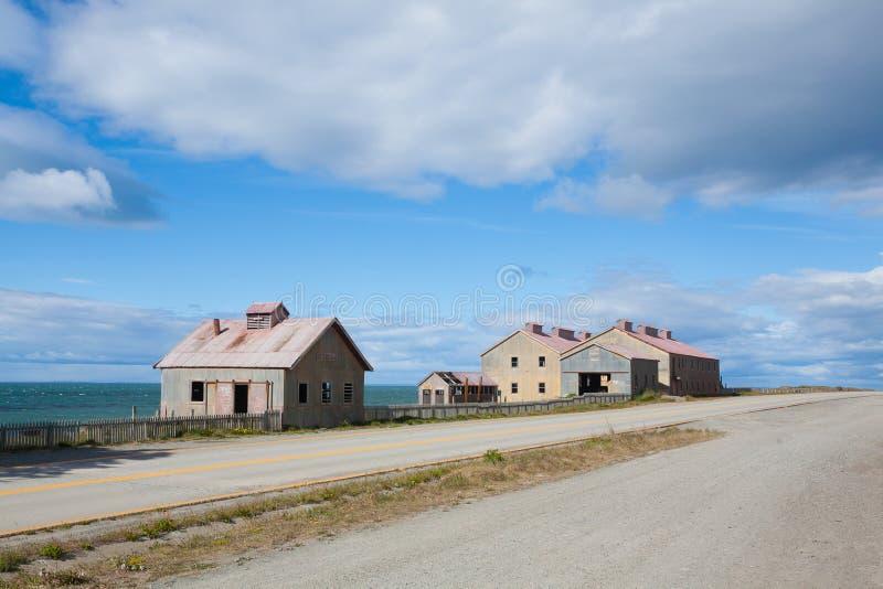 Townscape de San Gregorio, Punta Delgada, marco do Chile foto de stock royalty free