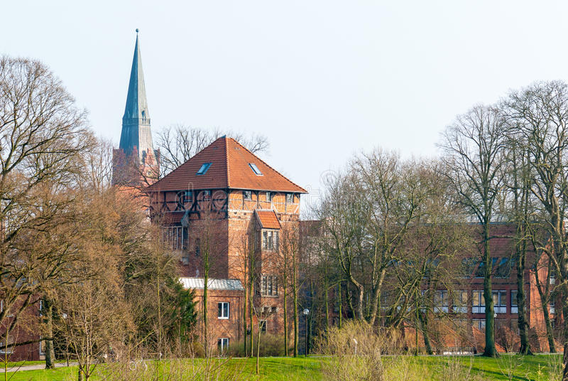 Download Townscape Nienburg At The River Weser Stock Image - Image of germany, tower: 52733403