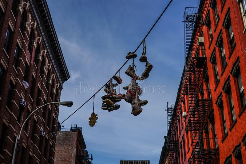 Townscape van Manhattan, New York stock afbeeldingen