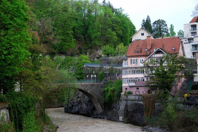 Townscape von Feldkirch stockbild